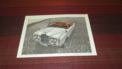 1966 Rolls-Royce Silver Shadow Convertible 2 Sided Brochure Sheet.