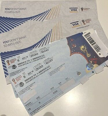Fifa World Cup 2018 *AMAZING Semi Final Match 62* Category TWO Tickets