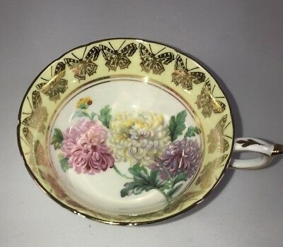 Vintage Paragon  White & Yellow With Gold Butterflies & Center Flowers Cup Only
