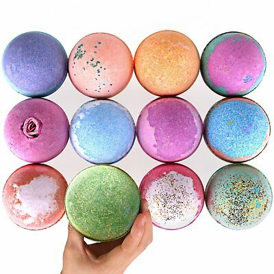 Bath Bombs Gift Set-XXL Natural Organic Essential Oils Aromatherapy Bath - 6 PCS