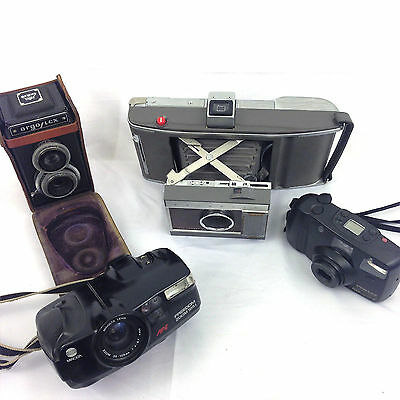 Camera Lot Vintage and Antique Polaroid Argo Pentax Minolta [bB3]