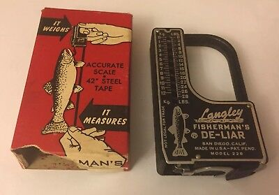 Langley Fish De-Liar Vintage Fishing Scale Measure Tool new old stock