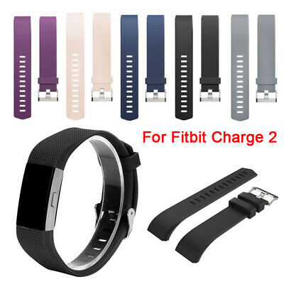 Replacement Watch Strap Wrist Band Classical Metal Buckle For FitBit Charge 2 UK