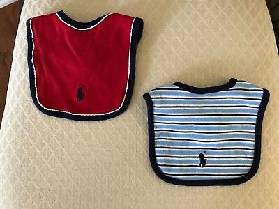 Baby boy's Ralph Lauren Polo bibs. NWOT RETAIL $8.00 EACH. Lot of 2.