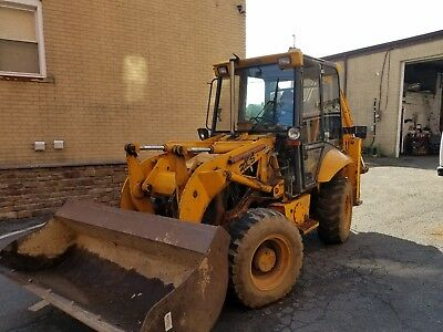 1997 JCB 210S Backhoe Loader Used Working Condition 4wd