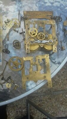 Antique/Vintage BRASS D R G M  Clock D R P  Movement FMS PLEASE READ ALL