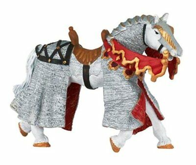 Papo Knights Cavallo Cavaliere Rosso Ritter Horse Red 39929