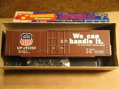 Roundhouse HO Union Pacific 50' Single Door Hi-cube Box Car Kit - NIB