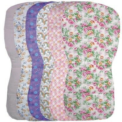 Reversible Seat Liners to fit Silver Cross Pursuit pushchairs - Pink Designs