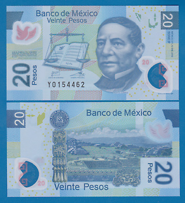 Mexico 20 Pesos P 122j 2012 UNC Serie R Low Shipping! Combine FREE! Polymer 122