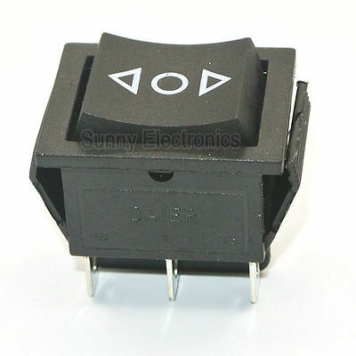 6-Pin DPDT Power Window Momentary Rocker Switch AC 250V/16A (ON)-OFF-(ON) Switch