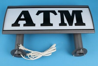 Metal Lighted ATM sign. Tested and WORKING