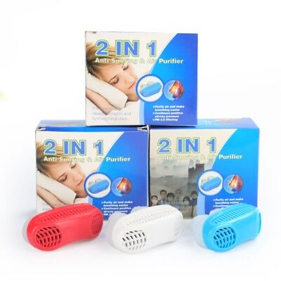 2 in 1 Anti Snore Nasal Air Purifier Sleep Tool Stop Snoring Nose Clip Guard