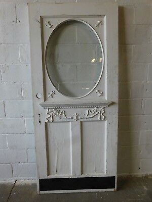 Antique Victorian Oval Glass Entry Door C 1900 Fir Architectural