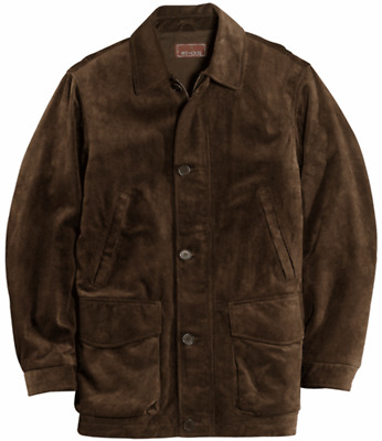 """Red House"" Men's Brown Calf Suede Coat, Size XL"