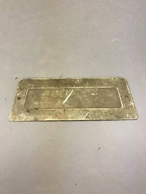 Ih International Scout 80 1961-65 Radio Block Off Delete Plate