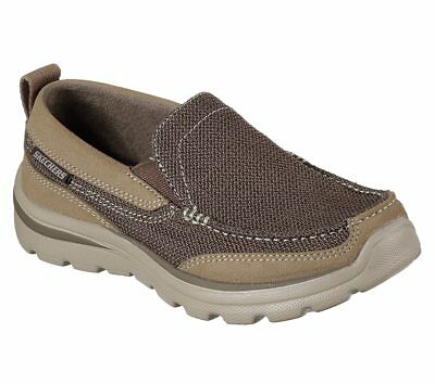 New Youth Skechers Relaxed Fit Superior Milford Shoe Style 93896 Brown 177A dr