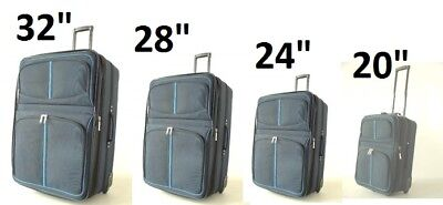 """Complete 4pc All Rolling Luggage Set 32"""" 28 26 20 SuitCase Travel Bag Case Lot"""