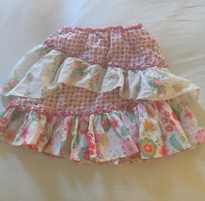 Room Seven Skirt Size 3t Euro 98 Ruffled Layered Floral Boutique