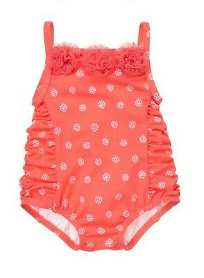 NWT Gymboree SWIM Tulle Rosette Dot One Piece Swimsuit Girl 12-18 & 18-24 months