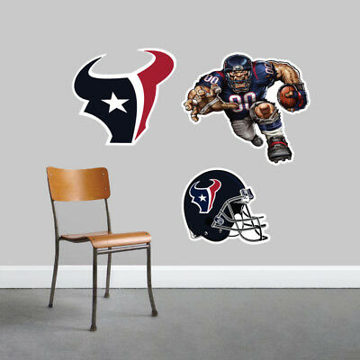 Houston Texans Wall Decal Logo Football NFL Art Sticker Vinyl LARGE SR97