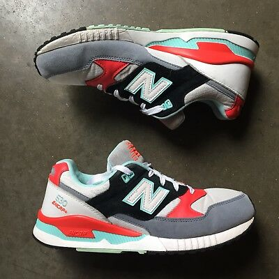 brand new caf0b e3f82 MEN'S NEW BALANCE 530 Encap White Shocking Orange Red Teal Blue Trainers Sz  8.5