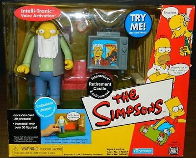The Simpsons Retirement Castle Interactive Environment Playmates 2002 SEALED