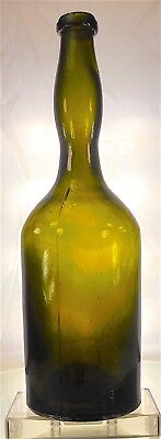 Lady's Leg Whiskey / Bitters Bottle. Antique Olive Green. Not A Reproduction!!