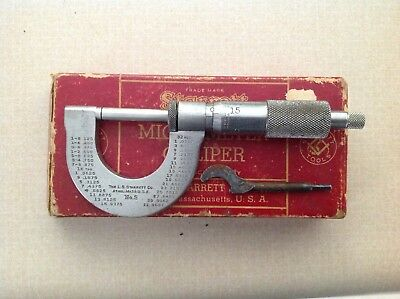 L.S. Starrett No 3 Outside Micrometer USA Vintage Machinist Tool