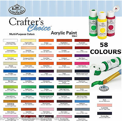 ROYAL LANGNICKEL ARTIST ESSENTIALS ACRYLIC 59ml CRAFT PAINT BOTTLES 105+ COLOURS