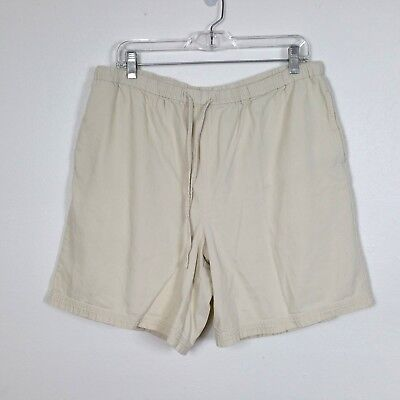 ORVIS Size Large Casual Pull on Shorts Heavy Cotton Drawstring 34/36