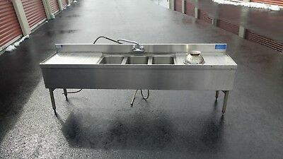 "Lacrosse Underbar 72"" Three Compartment Sink"