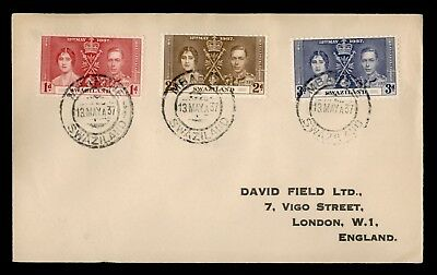 Dr Who 1937 Swaziland To England Fdc C28728