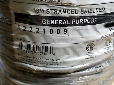 Honeywell Genesis 1222 16/4C Shielded Control/Communication Cable Gray /100ft