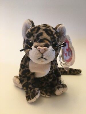 Nwt Ty Beanie Babies Baby Sneaky The Leopard February 22, 2000 Cat Tag Errors
