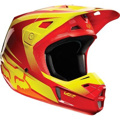 Fox - V2 Imperial Red/Yellow Helmet - Small