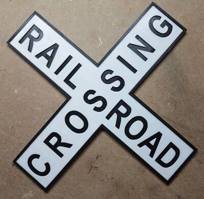 Railroad Crossing Sign (3d Printed Crossbuck Train Sign)