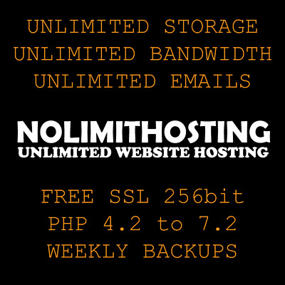 Website Hosting Unlimited Websites 1, 2, 3, 4, 5 or 10 Years - Free SSL & Backup