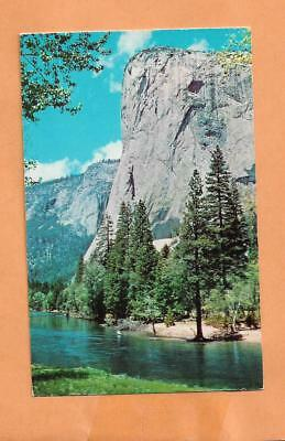 Yosemite National Park Ca El Capitan 1957  Vintage  Postcard