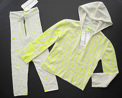 NWT Noe & Zoe Tannhauser Hipster Neon Cashmere Sweater Hoodie & Pants Boutique 5