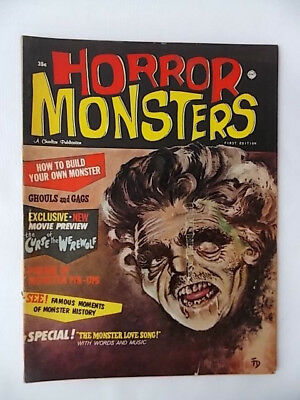 Horror Monsters Magazine First Edition 1961