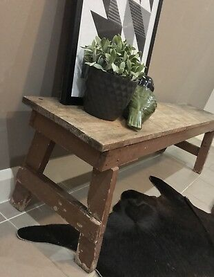 Vintage Industrial Circa 1960s Wooden Bench Seat CAN DELIVER