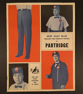 E.R. PARTRIDGE 1967 GULF GAS/OIL SERVICE STATION UNIFORMS 8-Page Catalog
