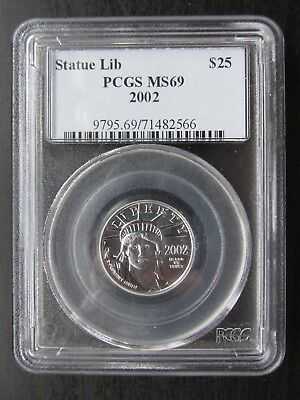 2002 $25 Platinum Eagle graded MS69 by PCGS