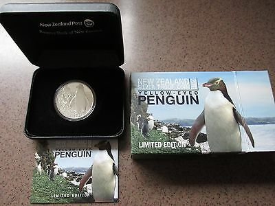 2011 New Zealand $5 Silver Yellow Eyed Penquin Proof Coin