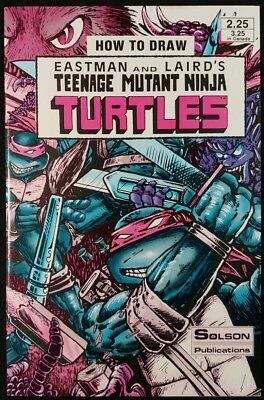 How To Draw Teenage Mutant Ninja Turtles #1 MFG Error Version! VF (Solson 1986)