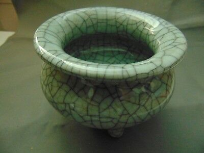 Beautiful Chinese Guan Style 官窯 Cracked Porcelain Glazed Incense - Free US Ship