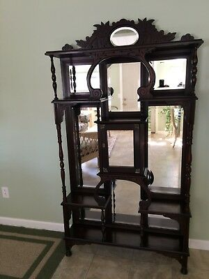 Antique Late 1880's Mahogany Eastlake Etagere
