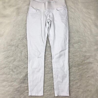 Asos Maternity Skinny Ankle Jeans Size 4 White Denim Stretch Fit