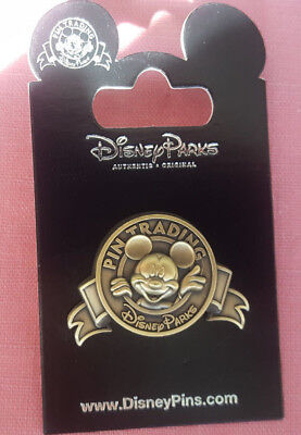 Disney Parks Pin Trading Logo Mickey Mouse Rack Common New On Card Open Edition